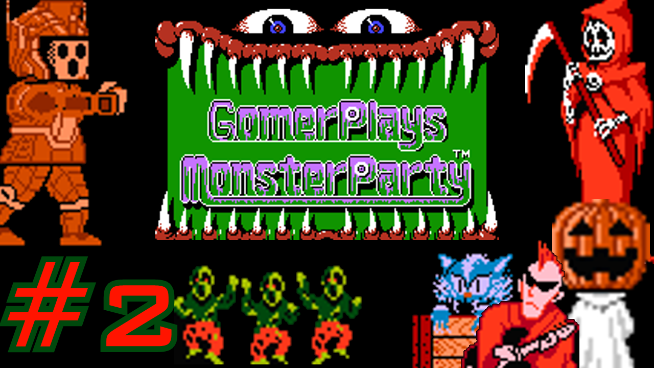 Gomer Plays Monster Party (Part 2: Living Food Sewers!)